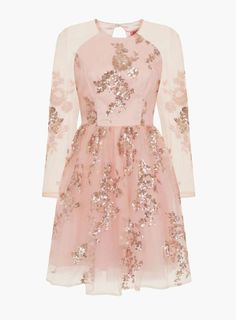 *Chi Chi London Rose Gold Sequined Midi Dress