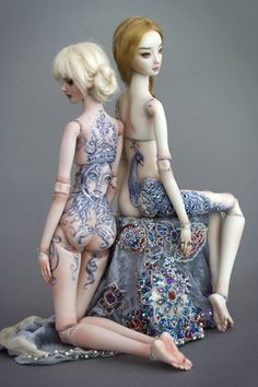 Enchanted Doll-  Exquisite art dolls by Marina Bychkova. All hand made, including jewelry and molds.