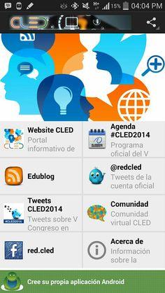 Aplicación de @RedCLED para dispositivos Android. Podrás seguir todas las actividades #CLED2014  Acceso y regiatro gratuito.