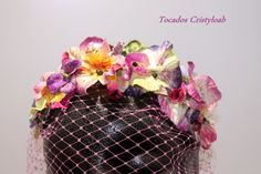 Tiara de flores de terciopelo, tocados