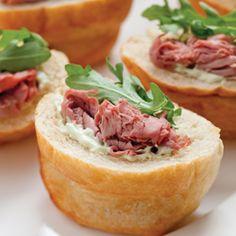 Roast Beef Pockets with Avocado–Sour Cream Spread #beef #reicpe #picnic