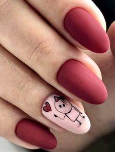 Top 20 New Nail Art 2019 - New Nail Models - women fashion Classy Nails, Stylish Nails, Trendy Nails, Dream Nails, Love Nails, My Nails, Nail Ring, Nail Manicure, Gel Nail Polish Colors