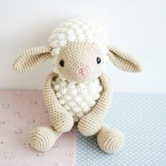 A lot of knitted amigurumi lamb recipes. With video narration, we prepared the model you asked a lot. Amigurumi lamb made with popcorns - Crochet Sheep, Easter Crochet, Crochet Patterns Amigurumi, Crochet Animals, Crochet Toys, Crochet Motifs, Lol Dolls, Amigurumi Toys, Stuffed Toys Patterns