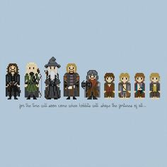 The Lord of the Rings: The Fellowship Cross by pixelsinstitches