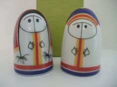 Arabia Finland Salt and Peppers Lappalainen Boy and by 77Street    How cute are these, how could I have missed them!!!!!