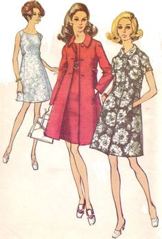 1960s Mod Simplicity Sewing Pattern 8647 Womens by CloesCloset, $18.00