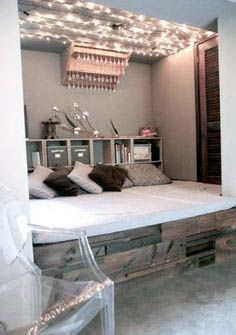 Beautiful Girls Bedroom Ideas for Small Rooms (Teenage Bedroom Ideas For Girls) Cute Bedroom Ideas, Awesome Bedrooms, Bedroom Themes, Bedroom Decor, Design Bedroom, Bedroom Inspiration, Small Room Bedroom, Trendy Bedroom, Small Rooms