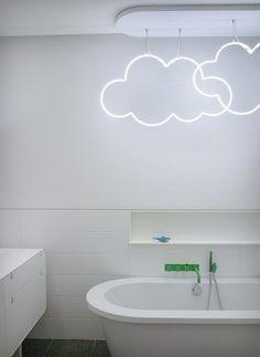 Clouds neon bathroom light
