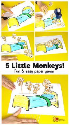 5 Little Monkeys Printable Game