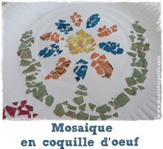 Une mosaïque en coquille d'oeuf pour les enfants http://www.lacourdespetits.com/mosaique-enfant-coquille-oeuf/ #oeuf #mosaique