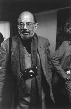 Poet Allen Ginsberg with a leica m3.