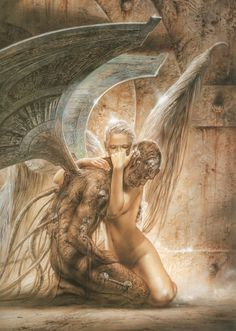 Fallen Angel   by Luis Royo   ( speaks compassion/forgiveness)