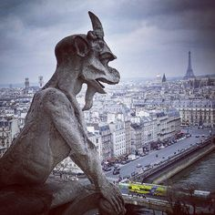 A #beautiful #panorama from the #towers #notredame #cathedral in #paris #france #tourist #trip #travelling #travel #church #travl3r #gargoyle #twitter