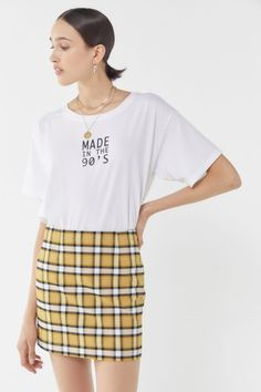 Urban Outfitters Out To Play Plaid Mini Skirt Casual Street Style, Street Style Women, Plaid Mini Skirt, Mini Skirts, Plaid Fabric, Plaid Pants, Fall Outfits, Urban Outfitters, Fitness Models