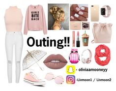 """""""Outing!!"""" by livmooney ❤ liked on Polyvore featuring WearAll, River Island, Converse, Too Faced Cosmetics, ShedRain, MAC Cosmetics, Mansur Gavriel, Victoria's Secret and Beats by Dr. Dre"""