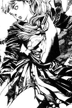 陽子 Youko:『月の影 影の海』十二国記 Juuni Kokki / Twelve Kingdoms - art by Yamada Akihiro 山田章博