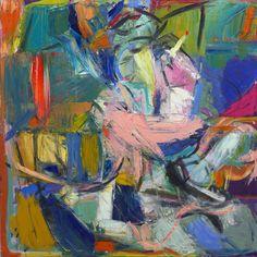 Insparing 'Newyorker' by painter Ezequiel Rosenfeldt (oil painted on canvas, 120x120cm, 2012) @riccilastiri Online Art Gallery. Be Smart By Art