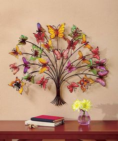 "Explore our website for more info on ""metal tree wall art decor"". It is actually a superb spot to read more. Metal Butterfly Wall Art, Butterfly Tree, Metal Tree Wall Art, Butterfly Crafts, Aluminum Can Crafts, Plastic Bottle Crafts, Belle Photo, Wall Art Decor, Room Decor"