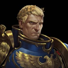 Roboute Guilliman by Adrián Prado Warhammer 40k Memes, Warhammer Art, Warhammer Fantasy, Space Marine, Prado, Ultramarines, The Horus Heresy, Fantasy Characters, Cool Artwork