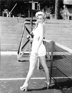 Marilyn Monroe Tennis Pose High Quality Photo