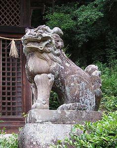 JAPANESE SHISHI   for the japanese shishi combines elements of both the korean koma inu ...