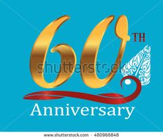 60th golden anniversary logo with white indonesia shadow puppet ornament