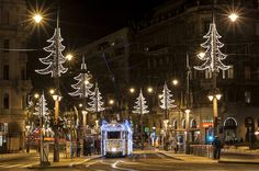 Twinkling LED Lights Make Budapest Tram Look Like it's Traveling Through Time - My Modern Met