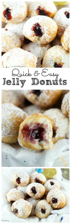 Quick Jelly Donuts Recipe - Easy to make and so delicious! This donut recipe takes less than 5 minutes to make and perfect for any birthday or celebration