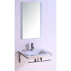 Has to be a reason this is inexpensive...? Legion Furniture Stone Top 24-inch Single Sink Bathroom Vanity with Mirror