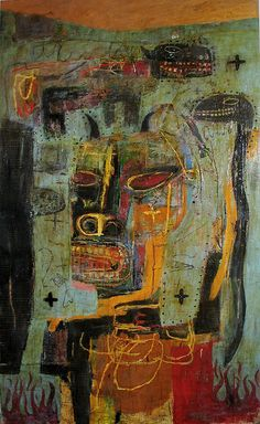 Lyle Carbajal contemporary artist, perhaps following his most favorite muse, Basquiat.