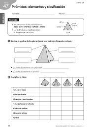 Resultado de imagen de prismas y piramides ejercicios