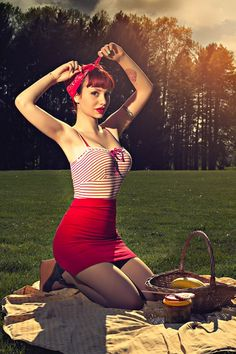 Sunset Picnic Pin Up! Rockabilly Pin Up Girl:: Modern Day Pin Up