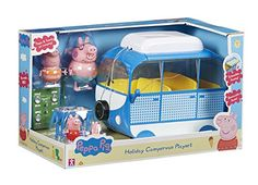 Peppa Pig – Le Camping-Car de Vacances – Véhicule et Figurines: Free-wheeling with a retractable awning Roof lifts off Removable campervan… Camping Toys, Camping Car, Little Girl Toys, Toys For Girls, Peppa Pig Holiday, Toddler Toys, Kids Toys, Pool Party Drinks, Bedroom Decor