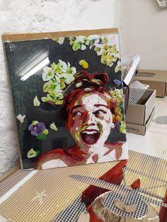 Mosaic Portrait, Painting, Art, Art Background, Painting Art, Kunst, Paintings, Performing Arts, Painted Canvas