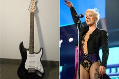"""I just entered to win & you can too: """"Guitar Signed by Pink"""". Enter the giveaway here: http://popcrush.com/pink-guitar-contest/"""