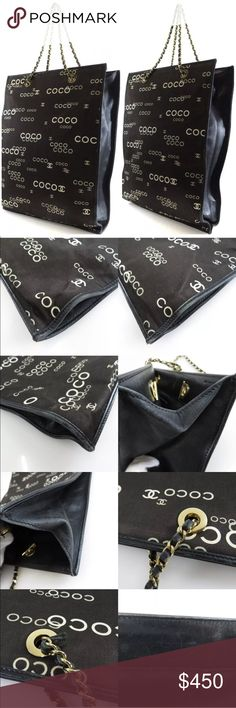 💯 auth RARE CHANEL CC coco print sac chain cabas Height:14.6inch Width:11.4inch Depth:0.4inch Handle:6.1inch 💯 AUTHENTIC! This is a Limited Edition Chanel Coco Dark brown Canvas Large Tote in good used condition. It is made out of brown canvas with exclusive and vibrant Coco Chanel signatures, and golden tone hardware. This is the perfect casual or business tote for carrying files and holding your everyday essentials. Not a Chanel piece you'll come across any time soon, very rare. Other…