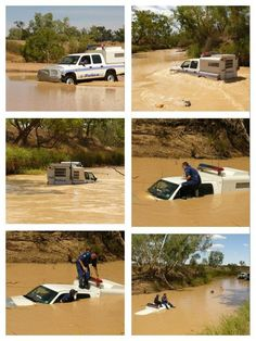 Rule #12: When you are the Police-Rescue team for a local community with frequent river-rescue operations needed, be sure to buy the team several Subaru Foresters, which are made for driving under-water. DO NOT, under any circumstances, purchase Toyota Tundra pickup trucks, as they have no high-water, nor under-water, capabilities.