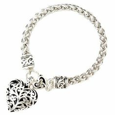 Silver Heart Charm Filigree Style Bracelet Fashion Jewelry NadiaRima. $21.99. FREE Gift Box Included. Gift-Ready Packaging.. Lead Compliant. High Quality Fashion Jewelry