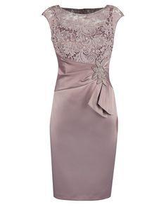 Dresses : Blush Guipure Lace & Satin Dress