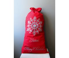 XXL Christmas SackSanta sack 16 x 27Personalized by Amaiahandmade