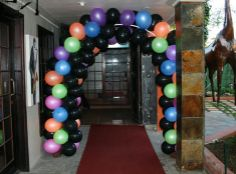 Glow Dark Theme Party | theme was for a 13th Birthday Tiffany chose a Disco Glow in the Dark ...