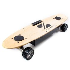the ZBoard electric skateboard. It's one step closer to a hoverboard and operates like a Segway. The board uses weight sensors to control its speed, so you lean forward to go, and lean back to slow down. It rides for up to five miles, and hits a top speed of 15 mph