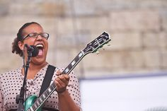 This woman and that green Gibson: Alabama Shakes' Brittany Howard
