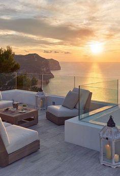 Villa Blue- Ibiza, Spain - New Ideas Dream Home Design, Modern House Design, My Dream Home, Future House, My House, Dream House Exterior, Dream Apartment, Aesthetic Rooms, House Goals