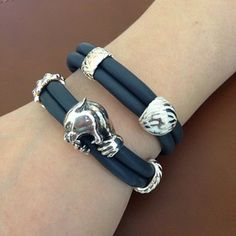 Armband Leder Rebeligion Größe XL Single schwarz Armband für Black Rock Large