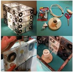 Old cassette tapes into a lamp!