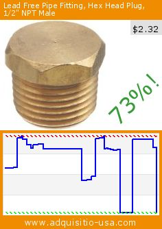 """Lead Free Pipe Fitting, Hex Head Plug, 1/2"""" NPT Male (Misc.). Drop 73%! Current price $2.32, the previous price was $8.57. http://www.adquisitio-usa.com/mid-america-fittings-inc/lead-free-pipe-fitting-33"""