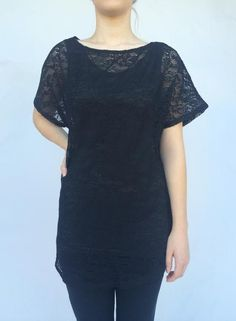 Black Lace Tunic · The Bashful Blossom Boutique · Online Store Powered by Storenvy