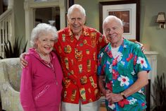 Betty White, Carl Reiner and Tim Conway   Hot in Cleveland