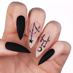 27 Cool Black Stiletto nail designs for your inspiration;black Halloween nails design. 27 Cool Black Stiletto Nail Designs to Try Now 27 Cool Black Stiletto nail designs for your inspiration;black Halloween nails design. Best Acrylic Nails, Acrylic Nail Designs, Nail Art Designs, Nails Design, Black Nail Designs, Stiletto Nail Designs, Design Art, Awesome Nail Designs, Best Nail Designs
